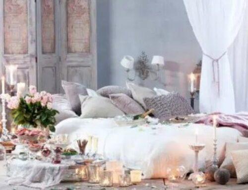 اجواء رومانسية في غرفة النوم لأحلى حب