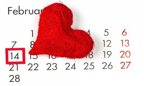 تاريخ عيد الحب مع رسائل رومانسية للتهنئة